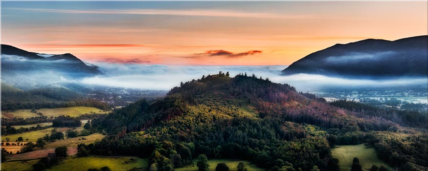 Dawn Mists Over Bassenthwaite Lake - Canvas Print