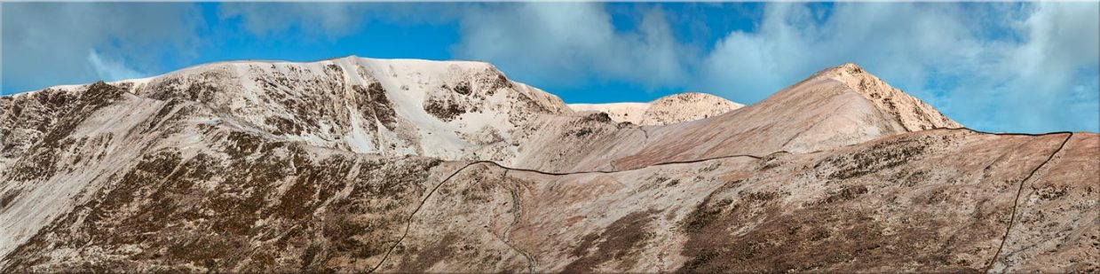 Snow Capped Helvellyn Mountains - Canvas Prints