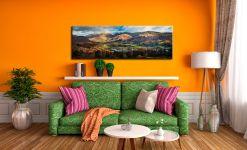 Grasmere Village Panorama - Canvas Prints Print on Wall