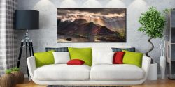 Sunshine and Showers on Cat Bells - Canvas Print on Wall