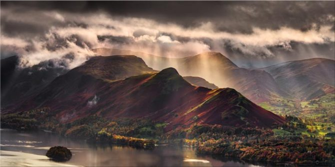 Sunshine and Showers on Cat Bells - Canvas Print