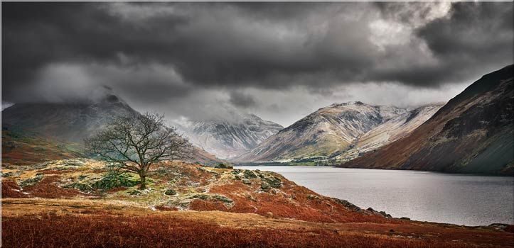 Winter Colours of Wast Water - Canvas Print