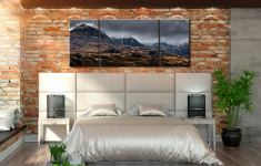 Scafell Mountains from Hardknott  - 3 Panel Wide Mid Canvas on Wall