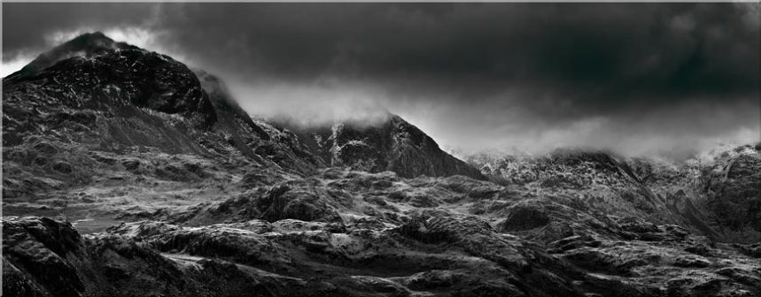 Scafell Mountains in Winter - Canvas Prints