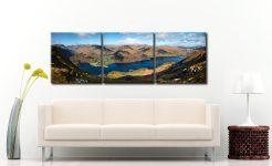 Ullswater and Glenridding Panorama - 3 Panel Canvas on Wall