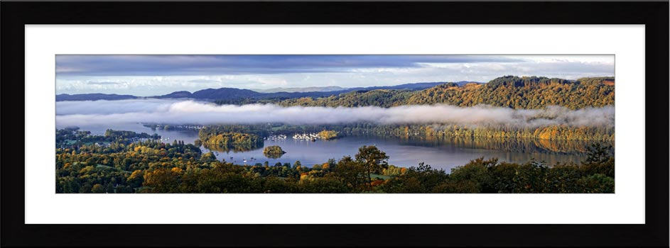 Bowness On Windermere Morning Mists - Framed Print