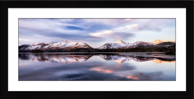 Colours of Dawn at Derwent Water - Framed Print