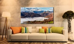 Sunbeams Over Martindale - Canvas Print on Wall