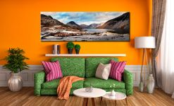 Snowy Day at Wast Water - Canvas Print on Wall