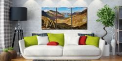 The Buttermere Valley - 3 Panel Canvas on Wall