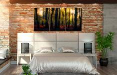 Sherwood Forest Woodland Golden Light - 3 Panel Canvas on Wall