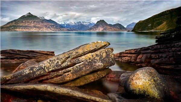 Elgol Beach Rocks - Canvas Print