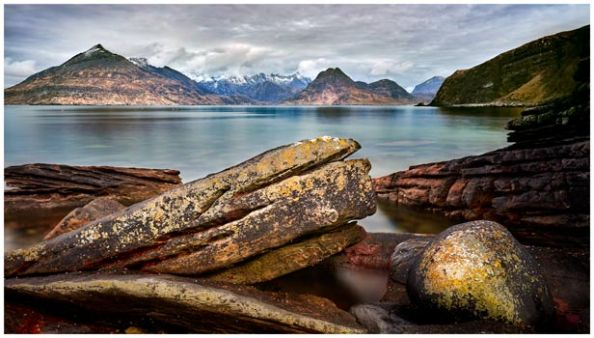 Elgol Beach Rocks - Isle of Skye Print