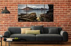 Cuillin Mountains From Elgol - 3 Panel Wide Centre Canvas on Wall