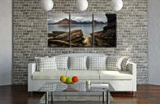 Cuillin Mountains From Elgol - 3 Panel Canvas on Wall