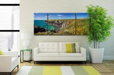 Spring in Pembrokeshire - 3 Panel Wide Mid Canvas on Wall