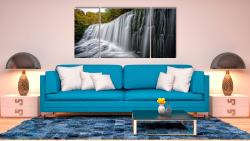 Breacon Beacons Waterfall - 3 Panel Wide Centre Canvas on Wall
