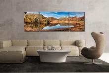 Blea Tarn Autumn Panorama - 3 Panel Canvas
