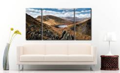 Grisedale Tarn Bowl - 3 Panel Canvas