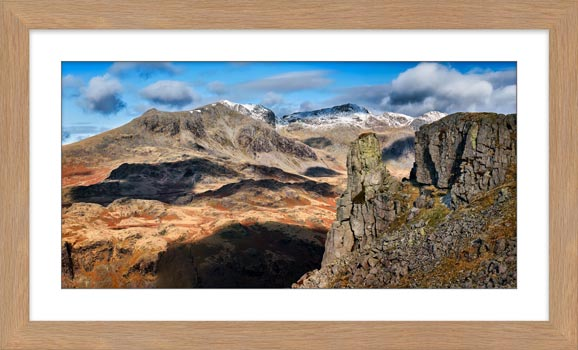 Eskdale Needle and Scafell Range - Framed Print with Mount