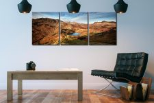 Blea Tarn From Lingmoor Fell - 3 Panel Canvas on Wall