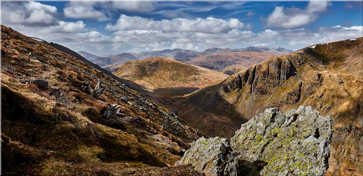 Grisedale Tarn in the Morning Sunshine - Canvas Print