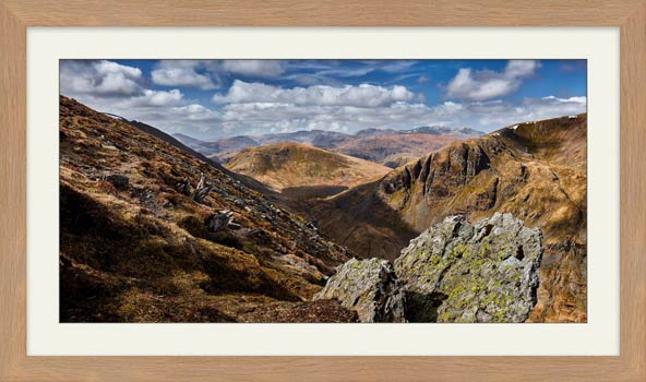 Grisedale Tarn in the Morning Sunshine - Framed Print with Mount