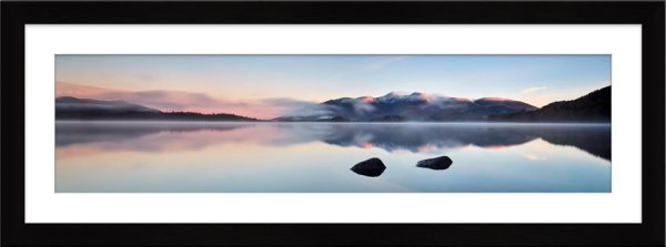 A New Day Dawns at Derwent Water - Framed Print with Mount