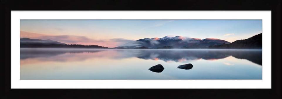A New Day Dawns at Derwent Water - Framed Print