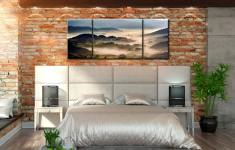 Rolling Hills of Little Langdale - 3 Panel Wide Mid Canvas on Wall