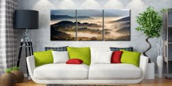 Rolling Hills of Little Langdale - 3 Panel Canvas on Wall