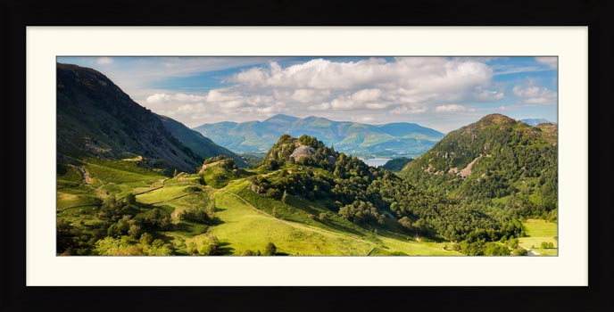 Castle Crag Summers Afternoon - Framed Print