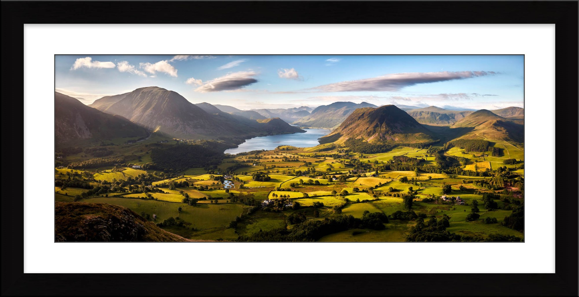 Loweswater Fell Vista - Framed Print with Mount