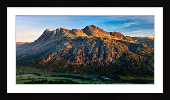 The Langdale Pikes in the Morning Light - Framed Print