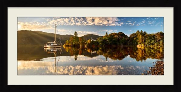 Brandelhow Point Reflections - Framed Print with Mount