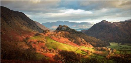Castle Crag and Kings How - Canvas Print