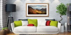 Castle Crag and Kings How - Framed Print with Mount on Wall