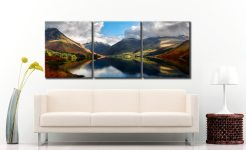 Wasdale Head Panorama - 3 Panel Canvas on Wall