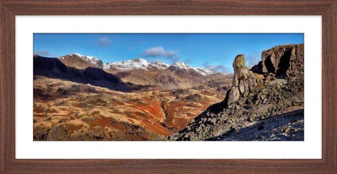 Eskdale Needle Winter Panorama - Framed Print
