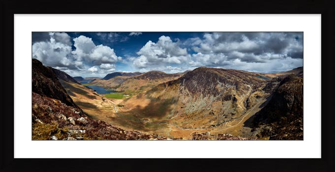 Fleetwith Pike and Buttermere Valley - Framed Print with Mount