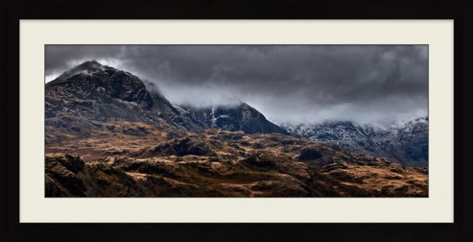 Scafell Mountains from Hardknott - Framed Print