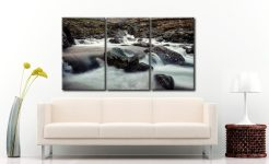 Grains Gill and Stockley Bridge - 3 Panel Canvas on Wall