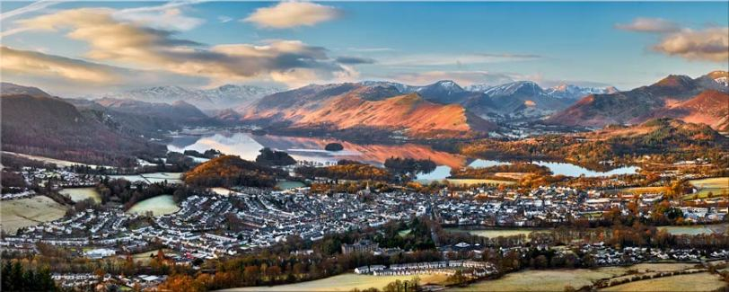 Keswick in the Morning Sunshine - Canvas Prints