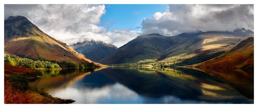 Wasdale Head Panorama - Lake District Print