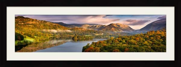Grasmere Autumn Morning - Framed Print with Mount