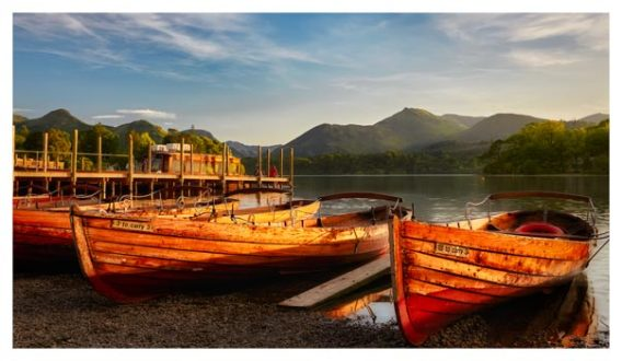 Golden Boats Keswick - Lake District Print