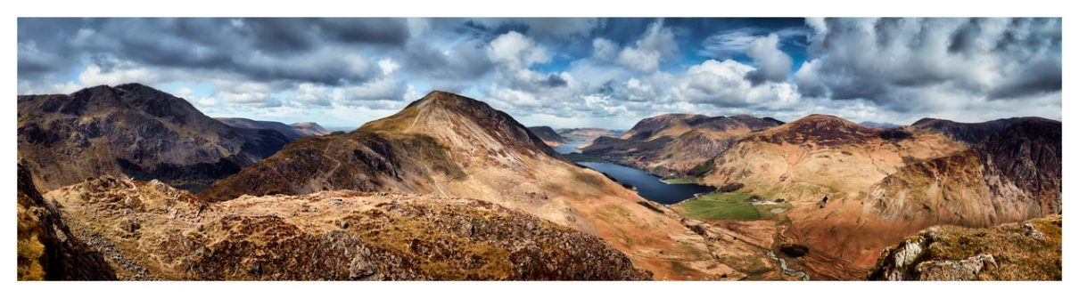 High Crag and Buttermere Panorama - Lake District Print