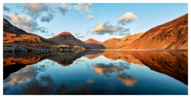 Golden Light Over Wast Water - Lake District Print
