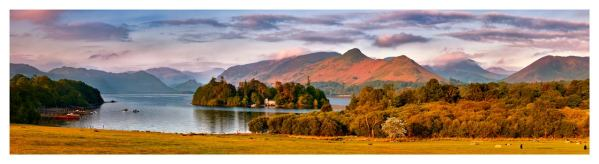 Derwent Water and Cat Bells in Morning Light - Lake District Print
