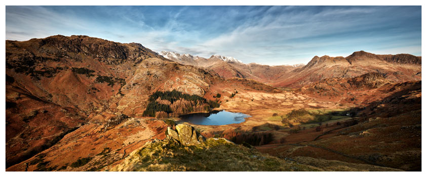 Winter Sun Over Wast Water - Lake District Print